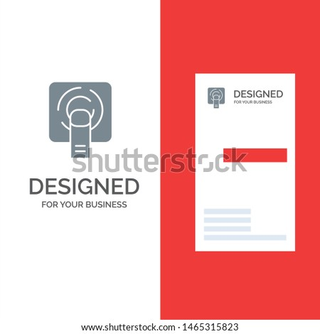 Finger, Touch, Finger Touch, Screen Grey Logo Design and Business Card Template. Vector Icon Template background
