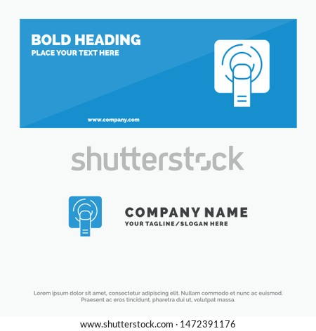 Finger, Touch, Finger Touch, Screen SOlid Icon Website Banner and Business Logo Template