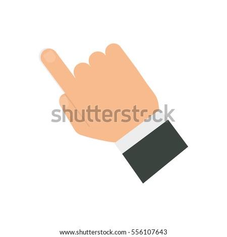 finger touching something icon