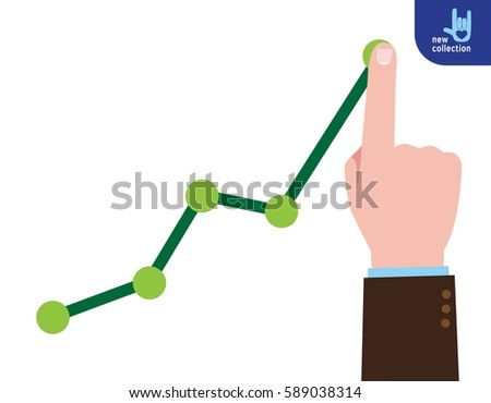 finger up holding chart arrow....