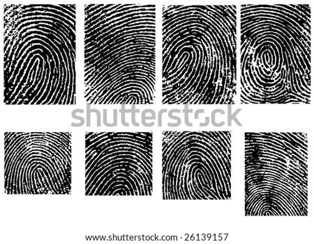 Fingerpinrt Crops  - 8 Separate vector illustrations