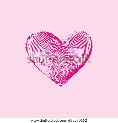 fingerprint heart pink iv   for