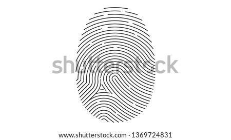 Fingerprint icon. Identification. Vector illustration.