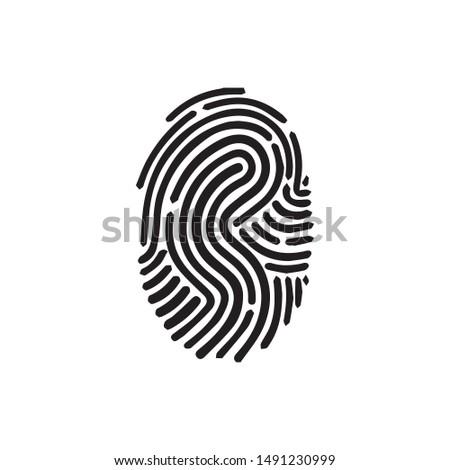 fingerprint icon vector linear