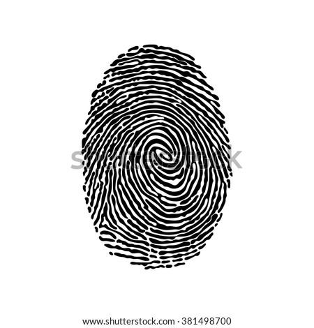 Fingerprint. Isolated object on white background.