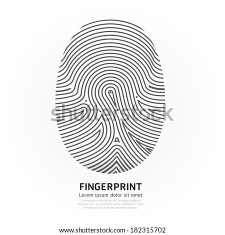 fingerprint line design vector