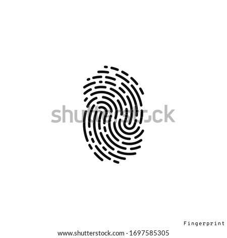 fingerprint logo isolated