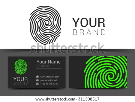 fingerprint logo template icon