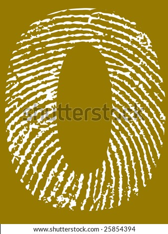 Fingerprint Number - 0 (Highly detailed grunge Number)