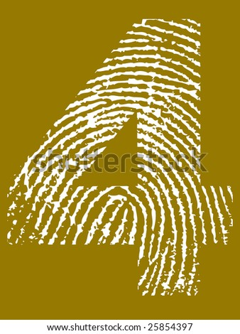 Fingerprint Number - 4 (Highly detailed grunge Number)