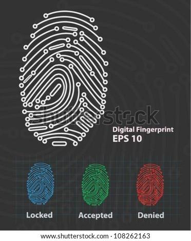 Fingerprint Reader (vector)