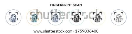fingerprint scan icon in filled