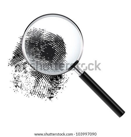 Fingerprint under a magnifier