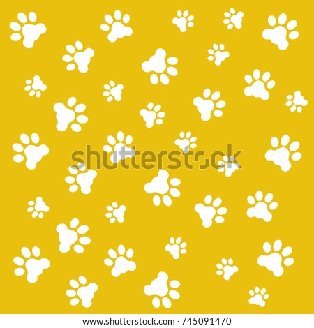 Fingerprints of the paws of dogs