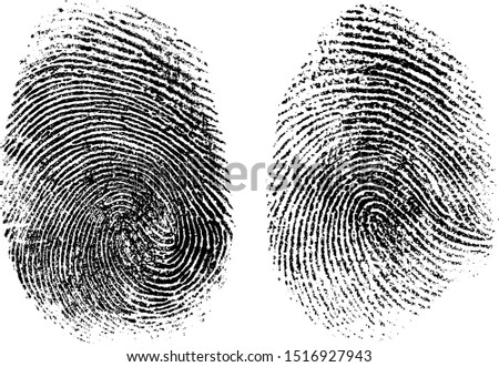 fingerprints set vector