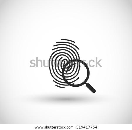 fingerprints with magnifier