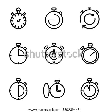 finish vector icons. Set of 9 finish outline icons such as