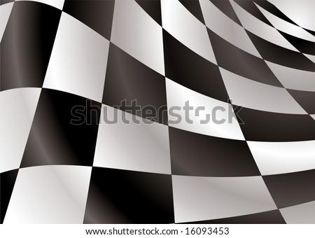 checkered flag logo. Finishing checkered flag