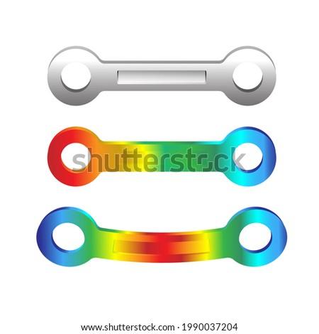 Finite element analysis of mechanical parts, Von mises stress, Vector illustration eps.10 Stock fotó ©