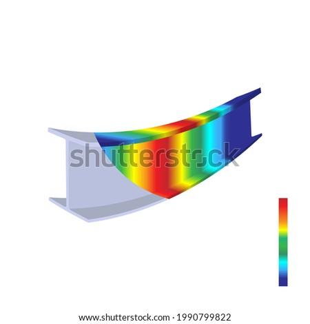 Finite element analysis of steel, Von mises stress, Vector illustration eps.10 Stock fotó ©