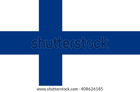 Finland flag, official colors and proportion correctly. National Finland flag. Flat vector illustration. EPS10. Stockfoto ©