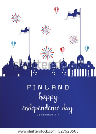 Finland Independence Day, Vector, Flag,