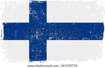finland vector grunge flag