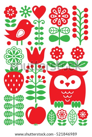 finnish inspired folk art