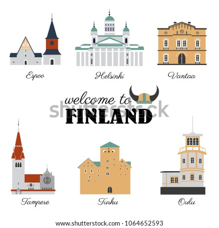finnish travel cartoon vector