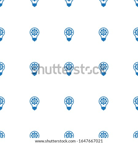 fintech innovation icon pattern seamless isolated on white background. Editable filled fintech innovation icon. fintech innovation icon pattern for web and mobile.