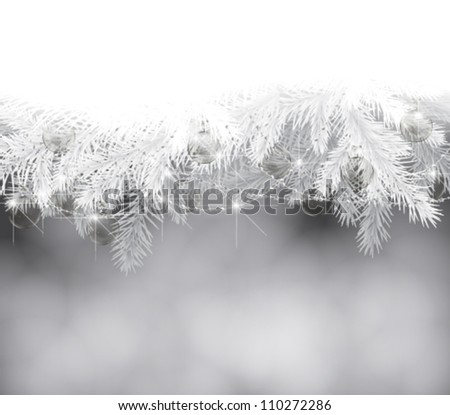 fir branches with christmas