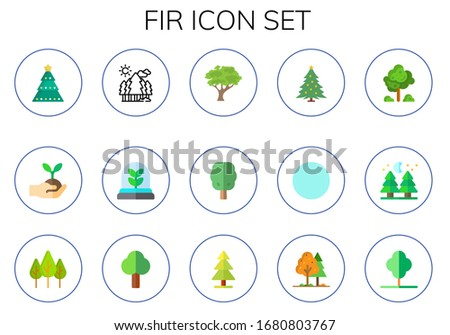 fir icon set 15 flat fir icons