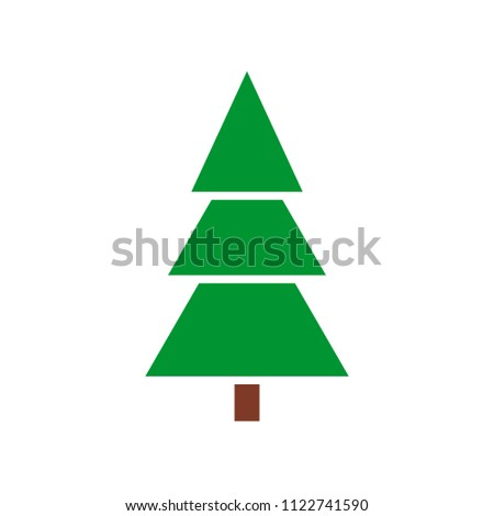 Fir tree icon isolated. Flat design #1122741590