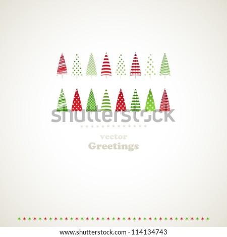 Fir-trees winter events background. Vector illustration.