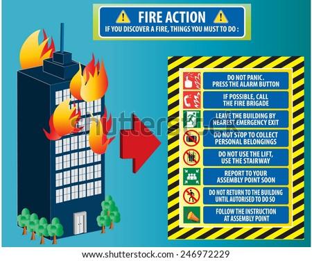 Fire Action Emergency Procedure Do Not Panic Call Fire