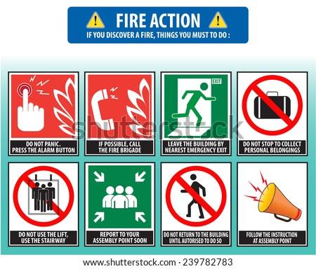 Fire Action Emergency Procedure Evacuation Procedure