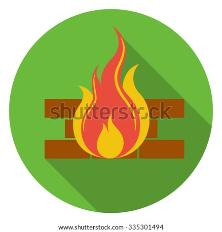 fire and firewall  icon