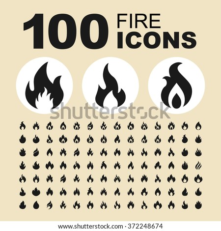fire and flame icons bonfire