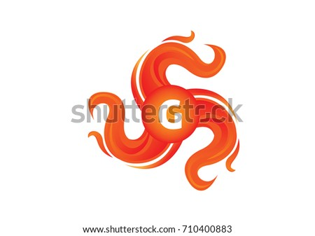 Fire And Letter G