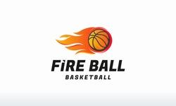 Fire Ball Basketball logo designs concept vector, basketball logo template