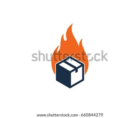 fire box icon logo design