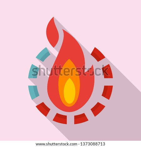 Fire burn calories icon. Flat illustration of fire burn calories vector icon for web design