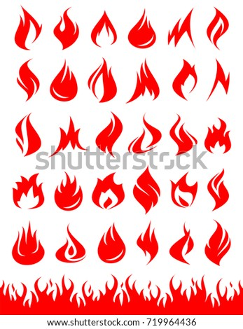 fire collection set vector