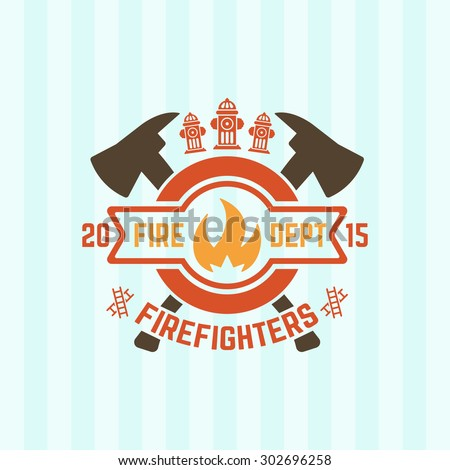 fire department colored vector