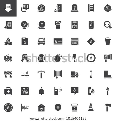 fire department vector icons