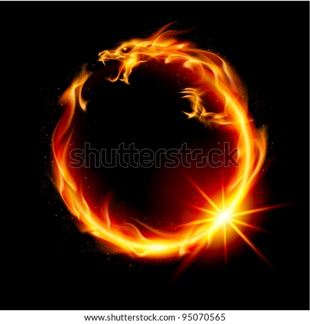 fire dragon abstract