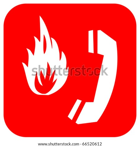 Fire emergency logo