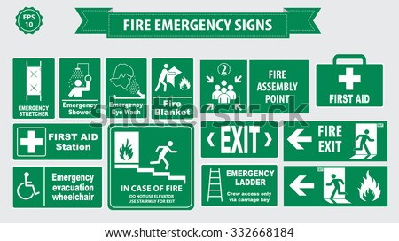 Fire Emergency Icons Vector - Download Free Vector Art