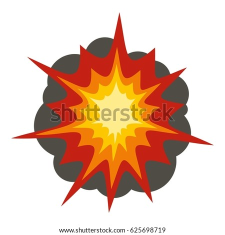 fire explosion icon flat