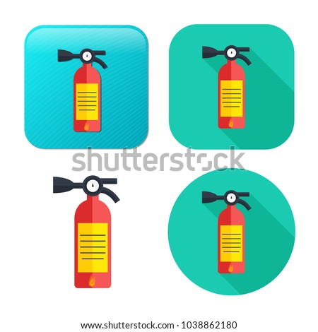 fire extinguisher icon - safety symbol - protection equipment - emergency sign